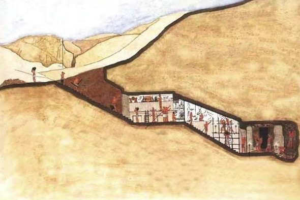 Гробницы в Долине Царей вырублены в скале
